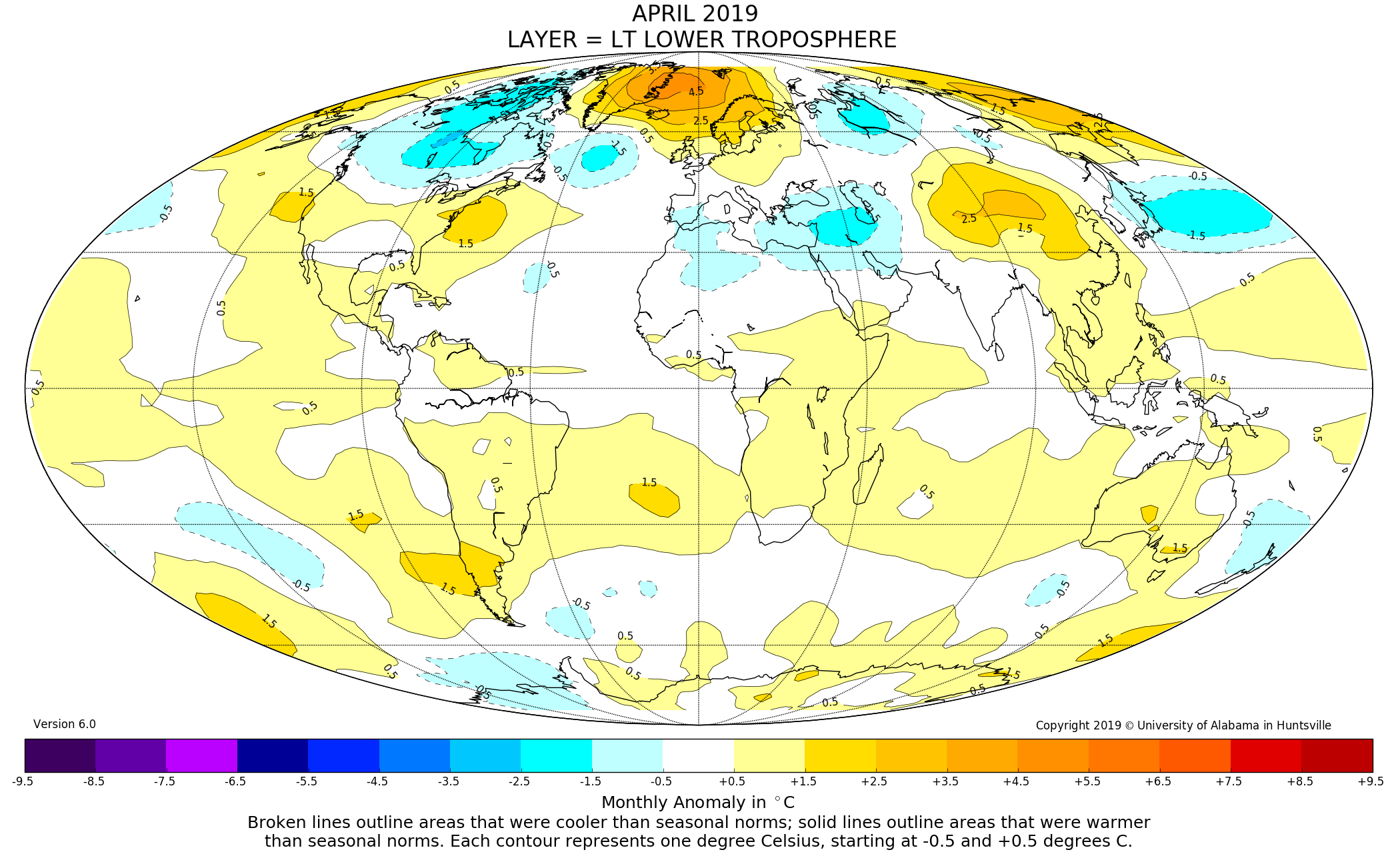 Global Temperature Report :: The University of Alabama in Huntsville
